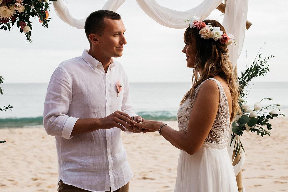 wedding_Hochzeit_Praia das Furnas_Portugal_Trauung_Strandhochzeit_Brautpaar_Ringtausch