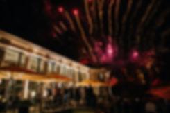 Hochzeit in Dresden am Weinberg - Hochzeitsfeier im Restaurant Lingnerterrassen im Lingnerschloss - Feuerwerk