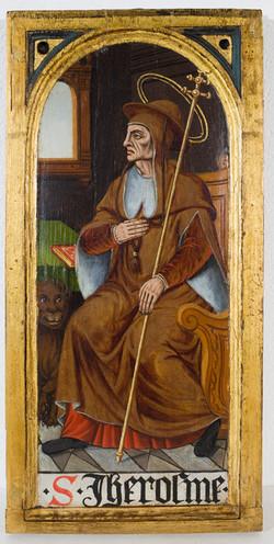 Holztafel mit dem Hl. Hieronymus