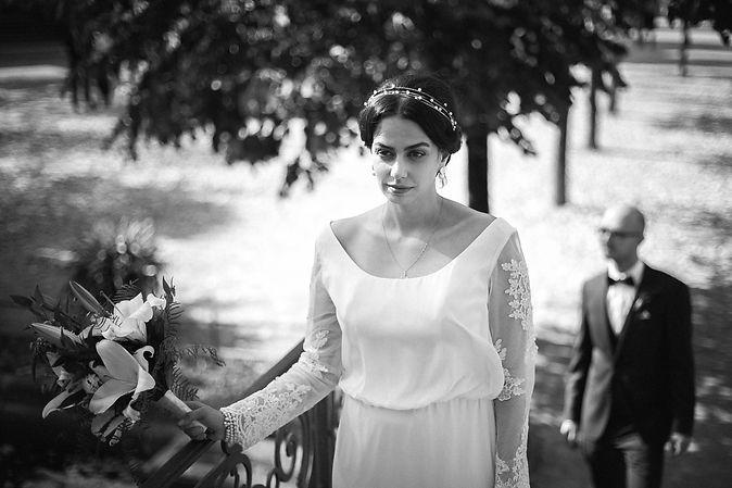 Hochzeit in Dresden - Brautpaarshooting und Portraits in der Altstadt auf den Brühlschen Terrassen