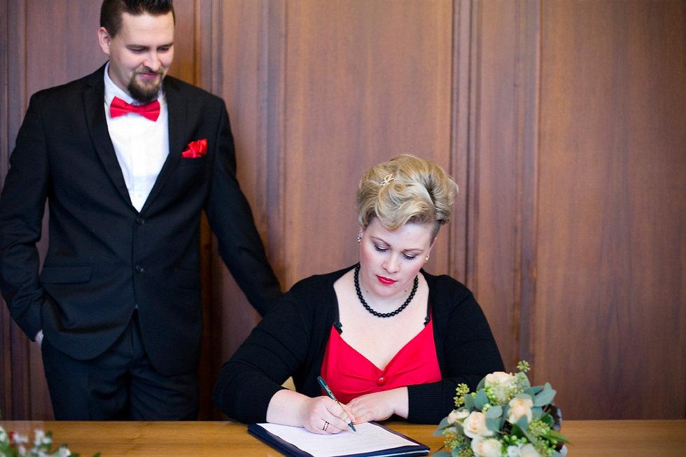 50er Jahre Hochzeit im Winter in Leipzig