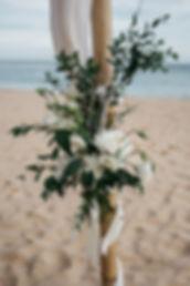 wedding Hochzeit Portugal Algarve Praia das Funas Blumenschmuck Strandhochzeit