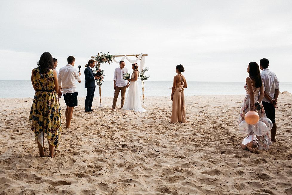 wedding_Hochzeit_Praia das Furnas_Portugal_Trauung_Strandhochzeit_Brautpaar und Gäste