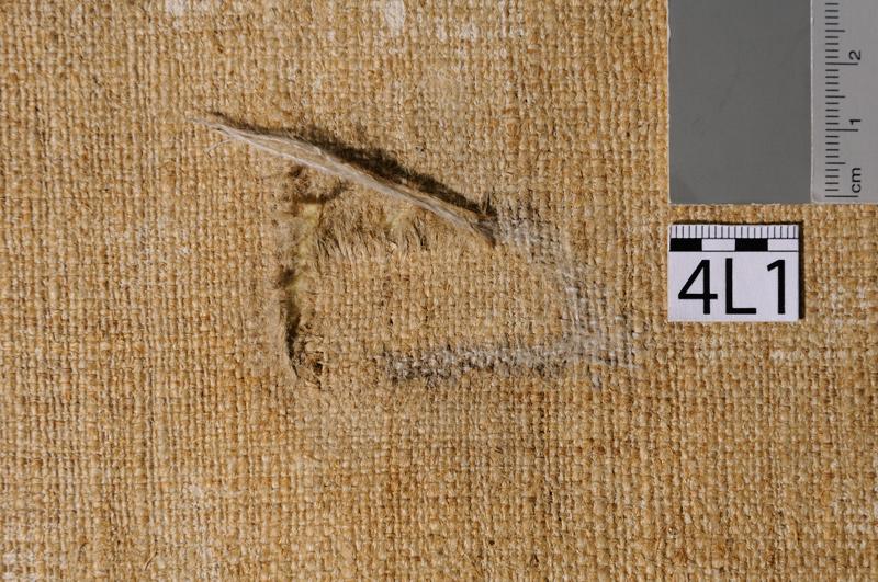 Restaurierung der Leinwandtapeten
