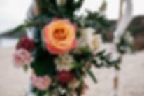 wedding Hochzeit Portugal Algarve Praia das Funas Blumenschmuck