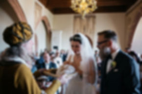 wedding photography ceremony in the castle Rochlitz