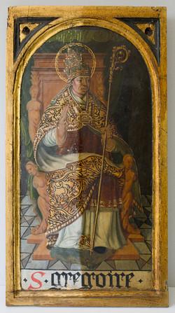 Holztafel mit dem Hl. Gregor