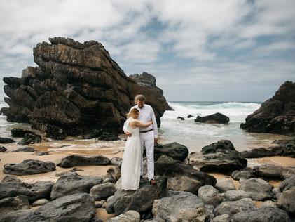 wedding at Praia da Adraga in Lissbon, Portugal