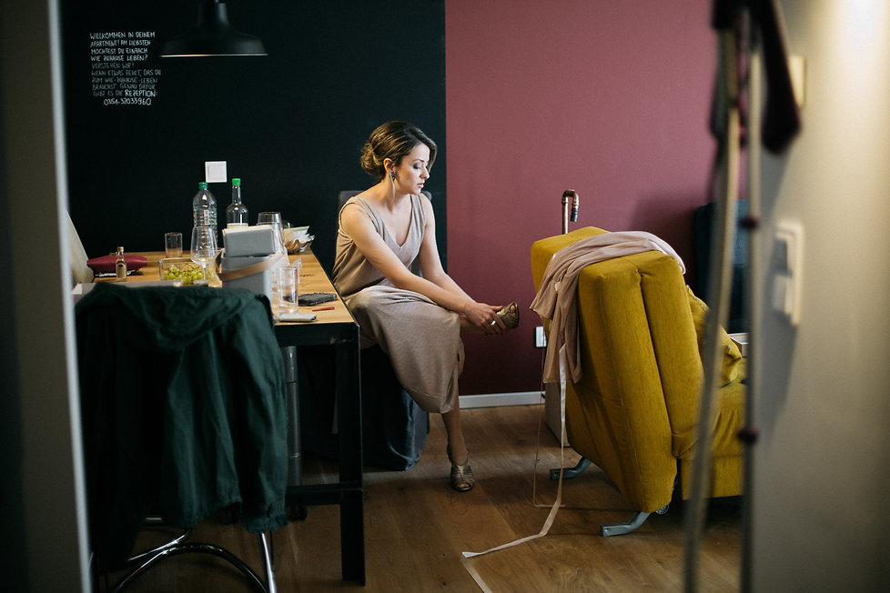 Hochzeit in Dresden - Getting Ready der Braut im Lebendigen Haus