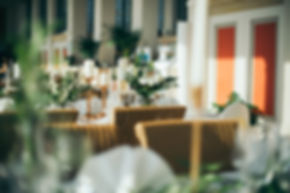 Hochzeit in Dresden am Weinberg - Hochzeitsdekoration im Restaurant Lingnerterrassen im Lingnerschloss