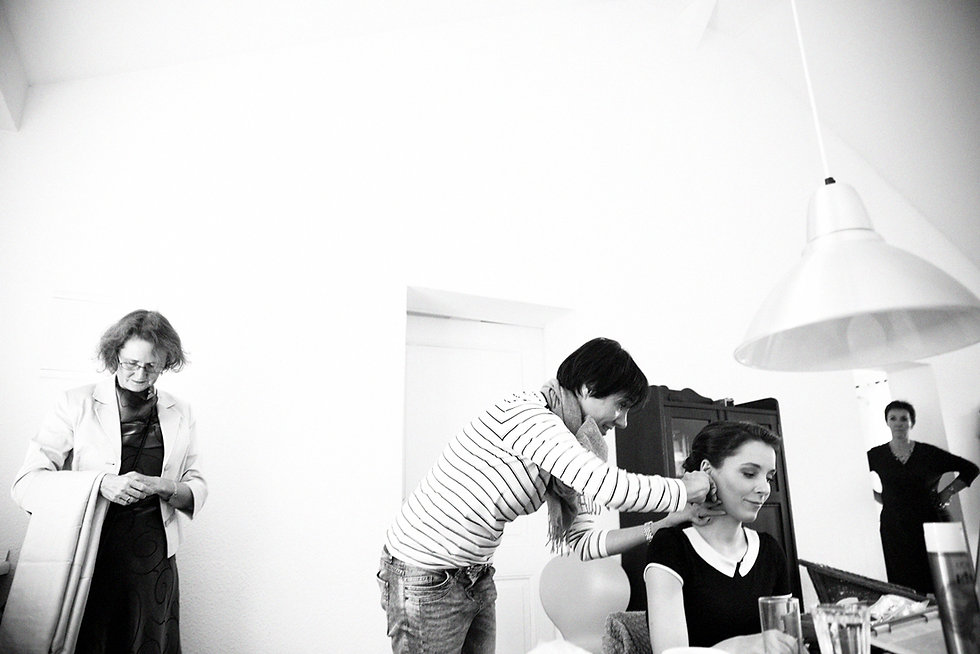 DIY Hochzeit auf Gut Wendgräben - Braut Make up ud Frisur