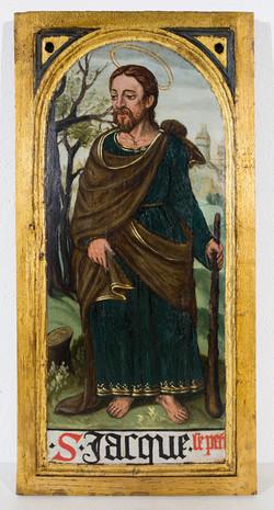 Holztafel mit dem Hl. Jakob