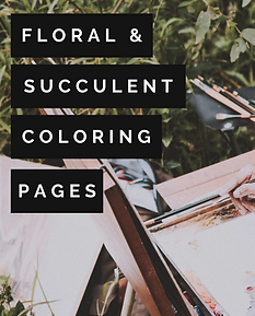 Floral and Succentlent Verse Printables