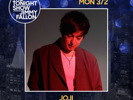 Catch Joji on The Tonight Show Starring Jimmy Fallon on Monday, 3/2