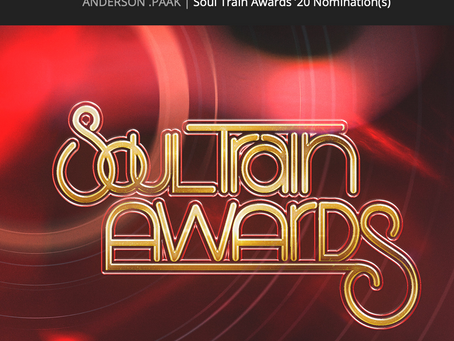 Congratulations to Anderson .Paak on His Soul Train Award Nomination!