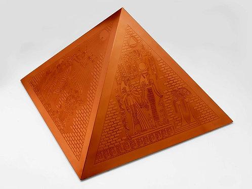 Pirâmide de Cobre Gravada - 50 cm