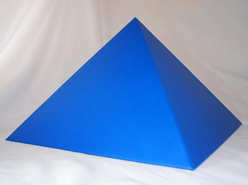 Pirâmide azul de papelão - 23 cm