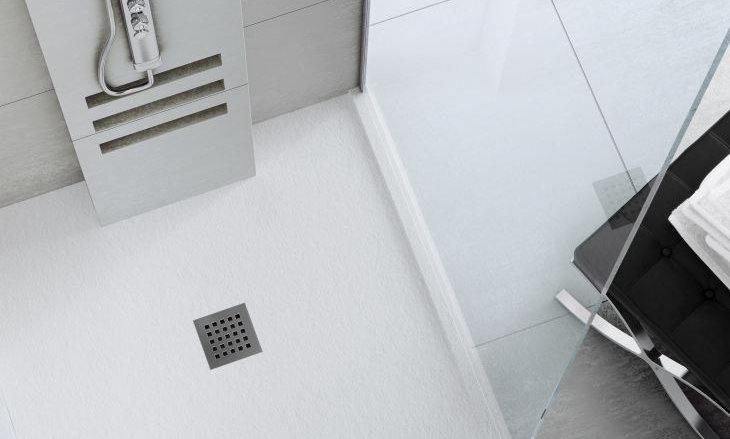 Plato de ducha Silex de Fiora 80 X 80 Blanco