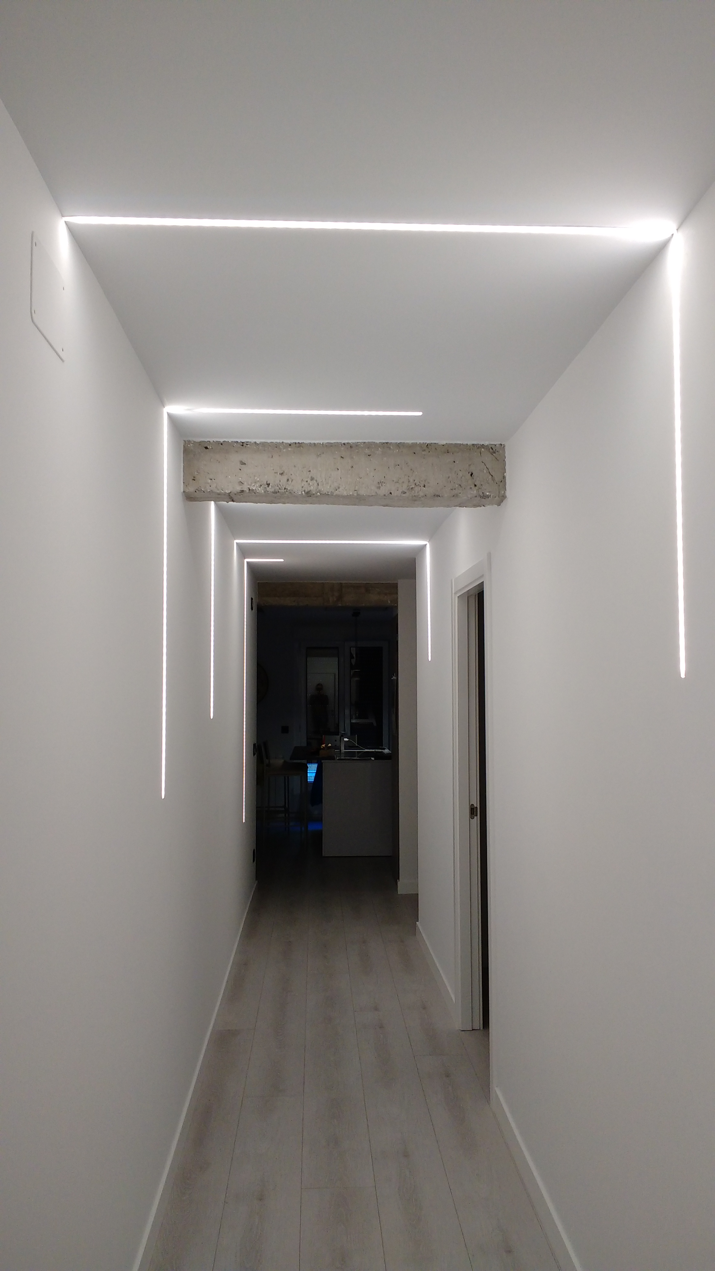 Iluminación del pasillo