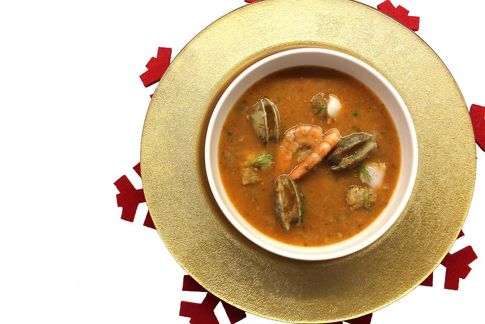 Sopa de pescado a la donostiarra