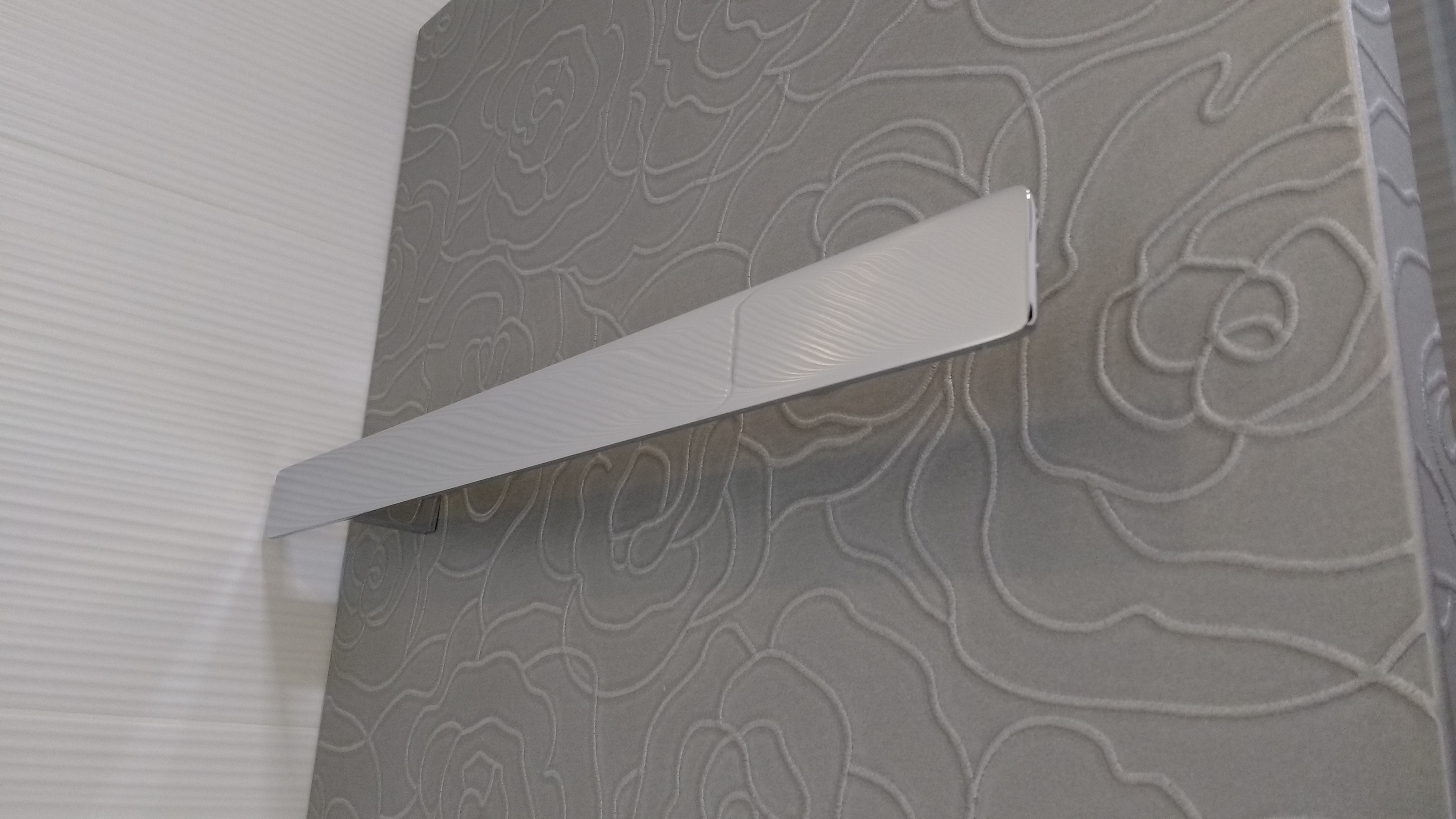 Detalle del radiador toallero