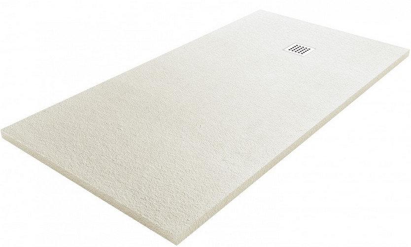Plato de ducha Fiora Silex 120x80 blanco roto