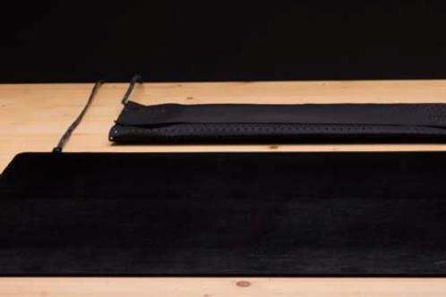 Skermet skrivebordsunderlag i læder