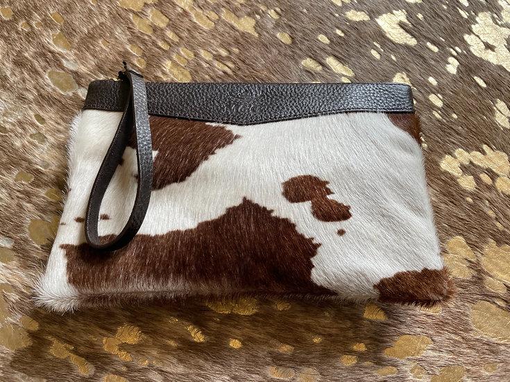 Cowhide Clutch Bag