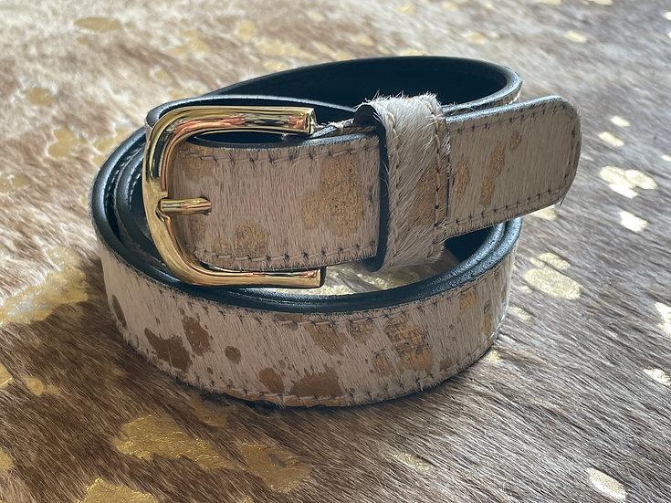 Gold Splash Cowhide Belt