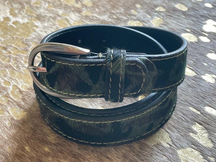 Camo Print Cowhide Belt