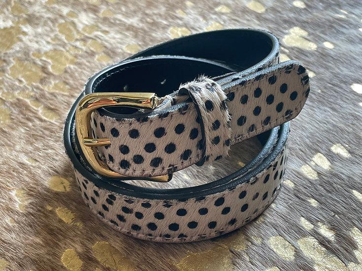 Spots Cowhide Belt