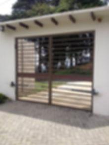 Puerta automatica con motores batiente de brazo