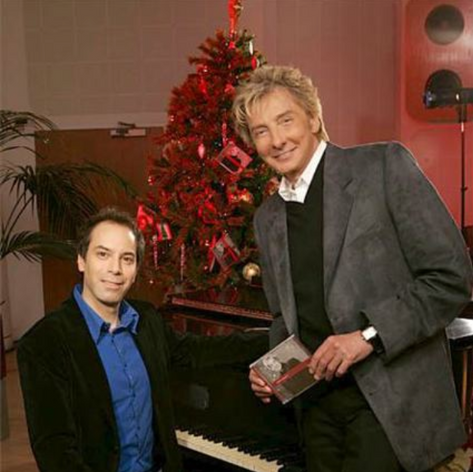 "with Barry Manilow during our Access Hollywood performance promting his album ""In the Swing of Christmas"".pn"