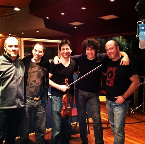 group photo of the band&producer at the end of Bach XXI recording session. With Philippe Quint, David Rozenblatt, Mat Fieldes and Charles Papasoff.JPG.pn