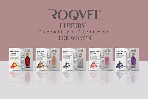 ROQVEL Luxury Bayan Parfüm Deneme Seti 5 Adet X 3 Ml