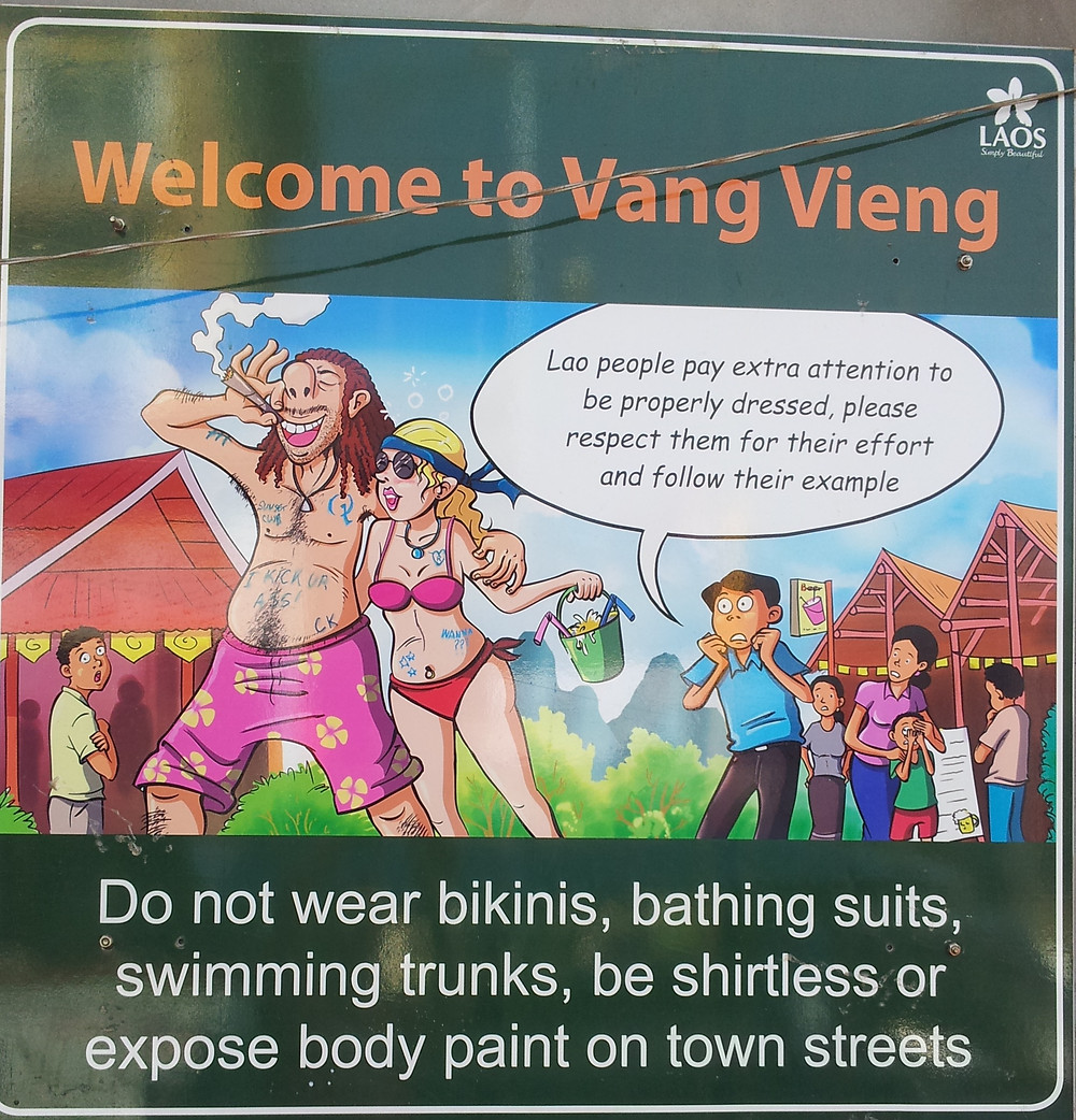 Vang Vieng Welcome Sign