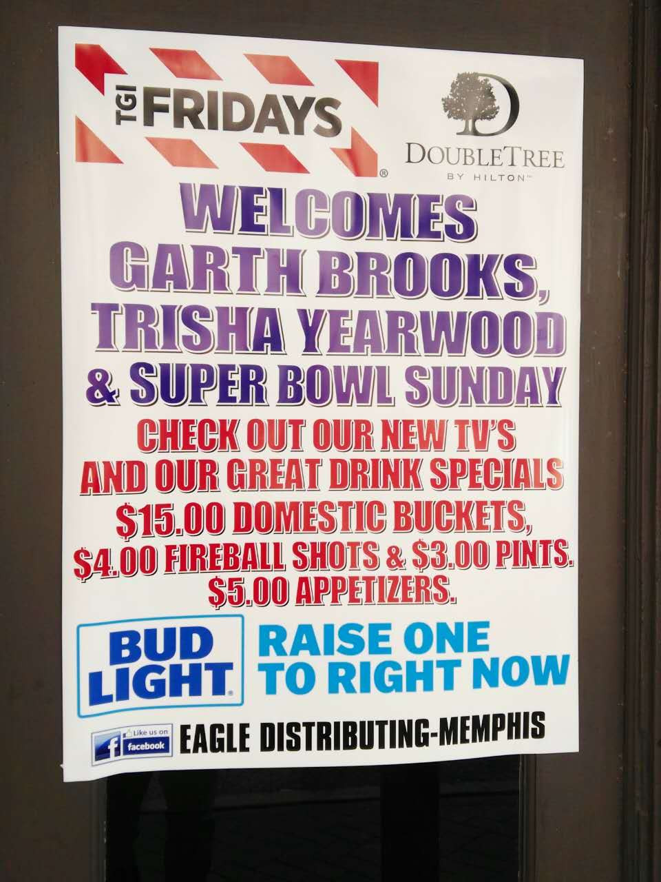 Garth Brook Trisha Yearwood Memphis Super Bowl