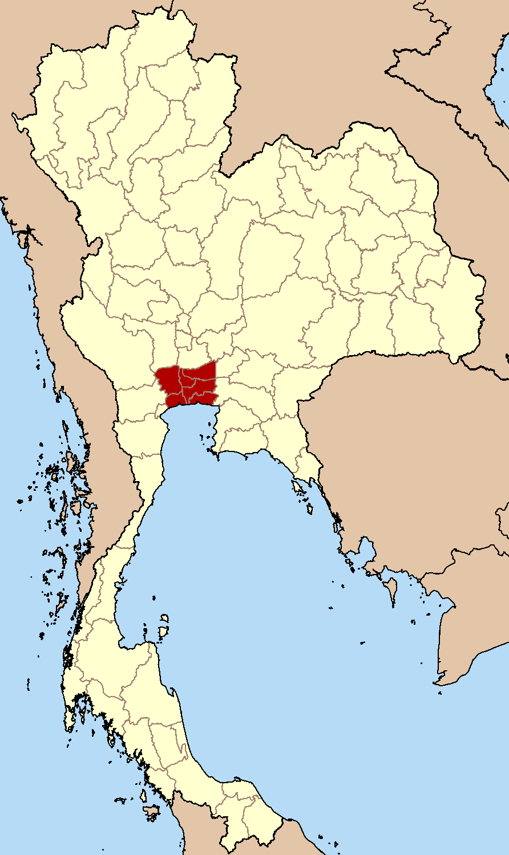 Map of Bangkok in Thailand
