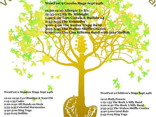 Musical Schedule For WestFest 9