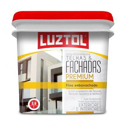 Luztol Tinta Elastomêtrica Telhas e fachadas branco 18 litros