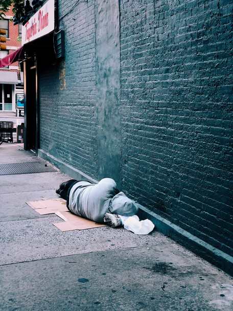 Homeless sleeping on street | Connect To Care