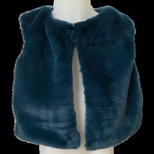 Gilet fausse fourrure (bleu cobalt)