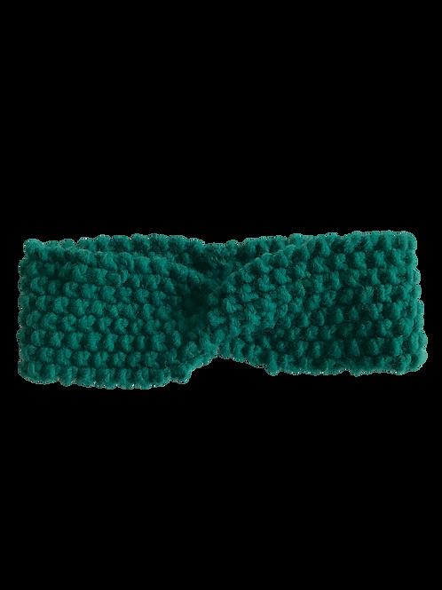Bandeau épais en laine  (vert)