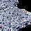 Thumbnail: Blouse Léa (fleuri bleu)