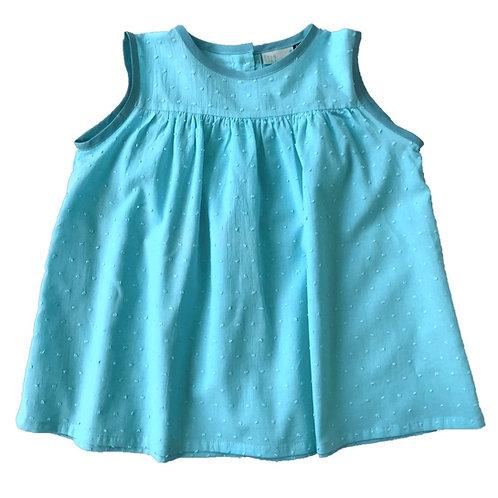 Blouse Lina (plumetis turquoise)