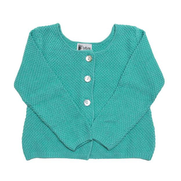 Knitted Cardigan - Green Lagoon