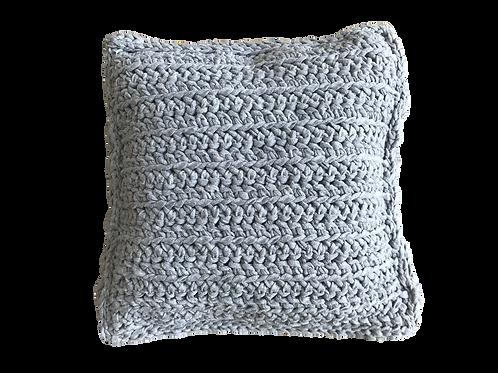 Coussin en crochet (gris argent)