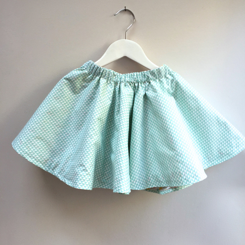 Reversible circle skirt by Lily Loop