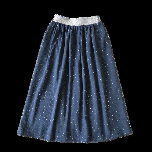 Jupe longue fille (bleu fidji)