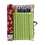 Thumbnail: Pochette à crayons (red flowers/lime)
